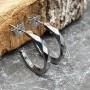 Вольфрамовые серьги полукольца с застежкой пусет