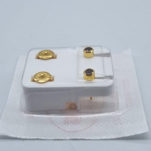 Серьги для первого прокола ушей Studex Февраль Аметист Водолей 3 мм