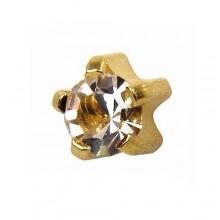 Серьги-иглы Studex с цветными камнями Крапан Размер L - большие (4 мм) купить №13