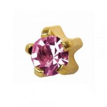 Серьги-иглы Studex с цветными камнями Крапан Размер R - средние (3 мм) купить №17