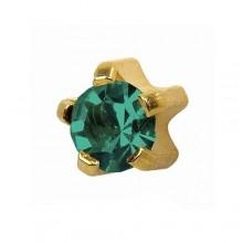 Серьги-иглы Studex с цветными камнями Крапан Размер R - средние (3 мм) купить №23