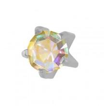 Серьги-иглы Studex с цветными камнями Крапан Размер R - средние (3 мм) купить №11