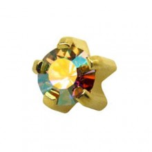 Серьги-иглы Studex с цветными камнями Крапан Размер R - средние (3 мм) купить №24