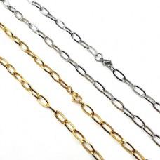 Красивая цепочка для женщин якорное плетение в двух цветах 70 см/5 мм