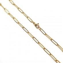 Модная цепь якорного плетения для женщин 50 см/4 мм