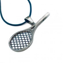 Кулон стальной в форме теннисной ракетки