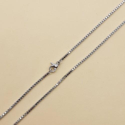 Цепочка на шею стальная венецианское плетение унисекс