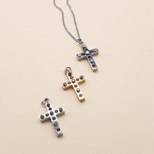 Крестик подвеска с цепочкой из медицинской стали женский в трех вариантах