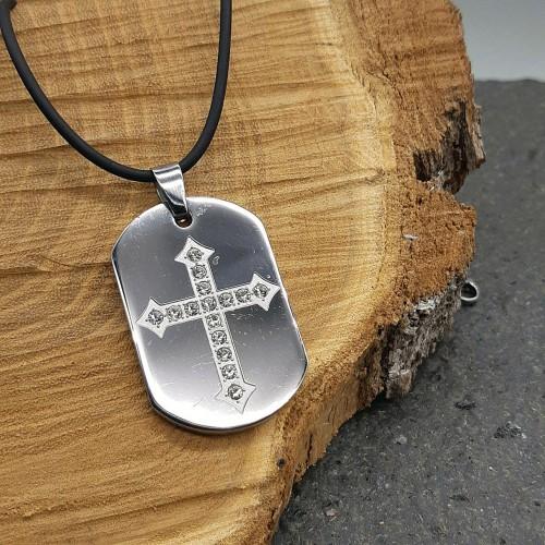 Кулон из стали Христианский крест