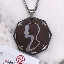 Подвеска кулон знак зодиака Близнецы стальной