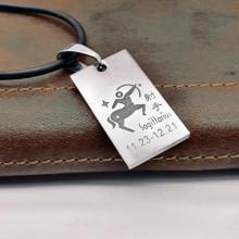 Подвеска кулон знак зодиака Стрелец медицинская сталь