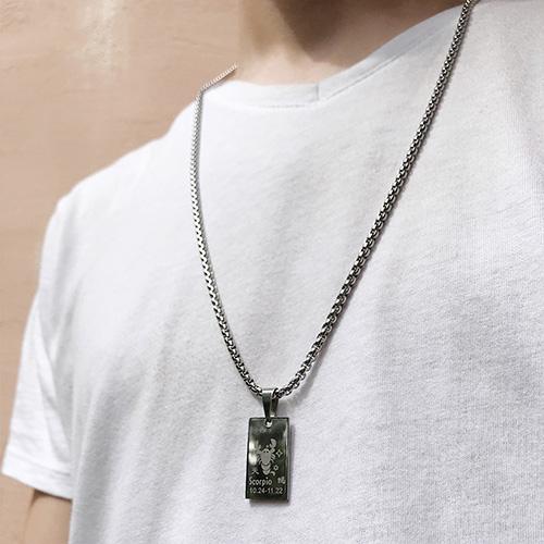 Подвеска кулон знак зодиака Овен медицинская сталь