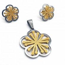 Подарочный набор для девушки сережки+кулон Весна