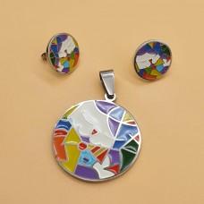 Тематический комплект украшений для девочек кулон на цепочке и сережки Кошечка Китти