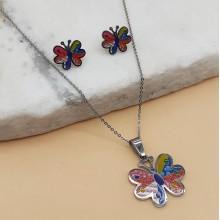 Нарядный набор бижутерии для девочек Бабочка