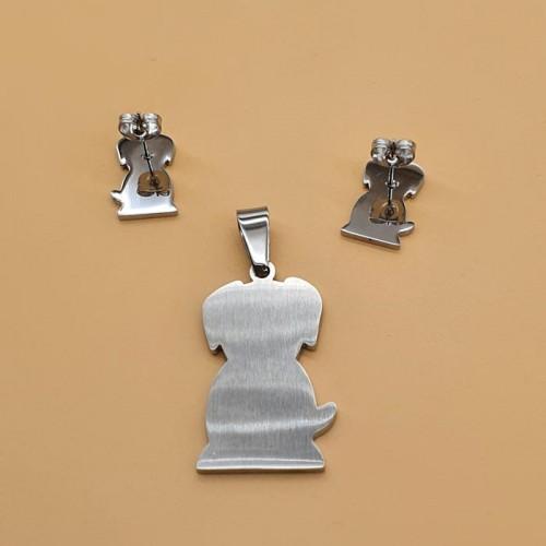 Детский набор стальных украшений с эмалью кулон и серьги с цветной эмалью Любимый друг