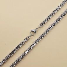 Цепочка мужская стальная плетение сложный якорь 60 см/4 и 5 мм