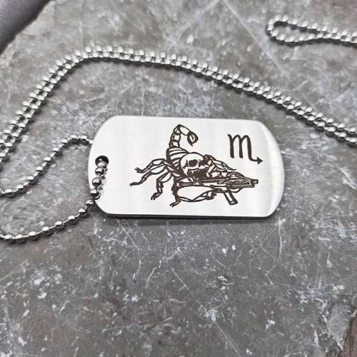Армейский жетон из медицинской стали на цепочке