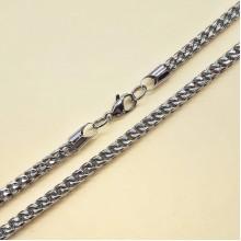 Цепь стальная мужская плетение сложный панцирь 57 см