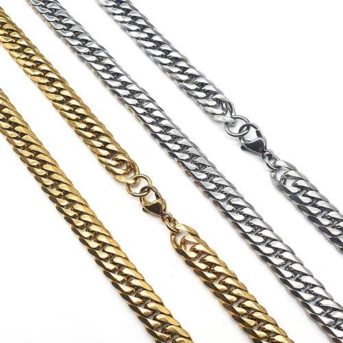 Стальная цепочка панцирное плетение в двух цветах 60 см/8 мм