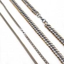 Широкая цепь из ювелирного сплава в ассортименте 60 см/4 и 8 мм