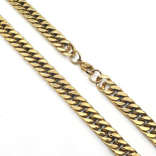 Массивная цепь из хирургической стали панцирное плетение 60 см/8 мм