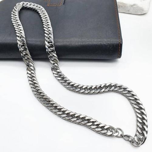 Стальная цепочка унисекс на шею плетение панцирь в ассортименте 10 мм/50 и 70 см