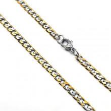 Цепочка из хирургического сплава плетение панцирь 60 см/4 мм