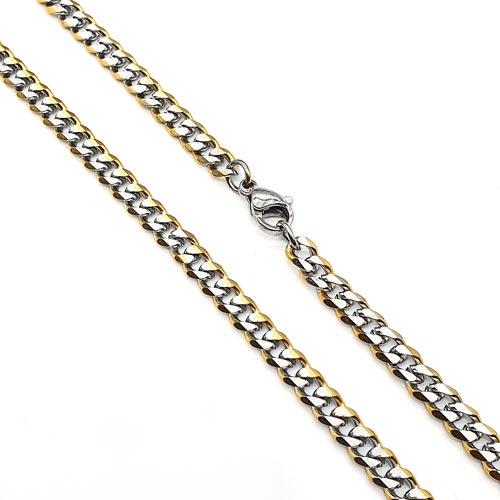 Модний ланцюг з медичної сталі панцерного плетіння 60 см / 5 мм