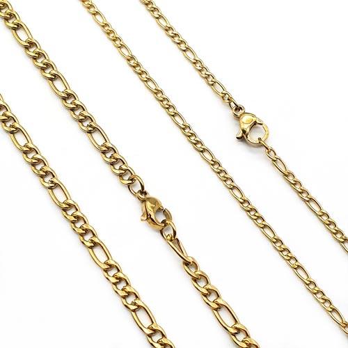 Цепь металлическая фантазийное плетение фигаро 50 и 60 см/3 и 4 мм