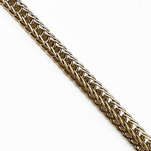Цепочка из медицинской стали плетение колосок в двух цветах 60 см/3 мм