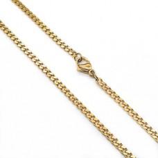 Модная мужская цепь из стали панцирное плетение 50 см/3 мм