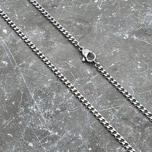 Тонкая цепочка для мужчин из хирургического металла 63 см/3 мм
