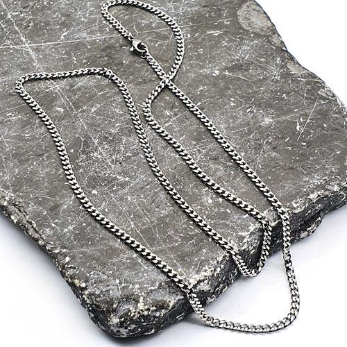 Тонкая цепочка для мужчин из хирургического металла в двух цветах 60 см/5 мм