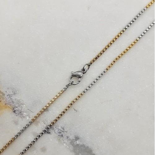 Цепочка из стали венецианское плетение 50 см/2 мм