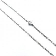 Цепочка с кордовым плетением женская 60 см/1 и 1.5 мм