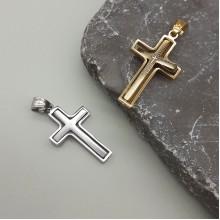 Мужские крестики Цвет металла Золотой купить №2
