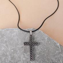 Стальной кулон из медицинской стали мужской Крест