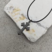 Крест православный нательный из стали без распятия