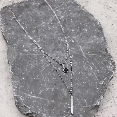 Колье из нескольких цепочек стальное Астарта
