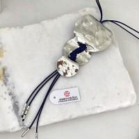 Колье из текстильных шнуров Дамия синие женское бижутерия