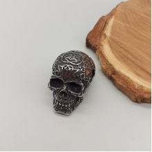 Кулон массивный с черепом из нержавеющей стали Asmodeus