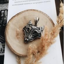 Подвеска кулон стальная Кельтский волк