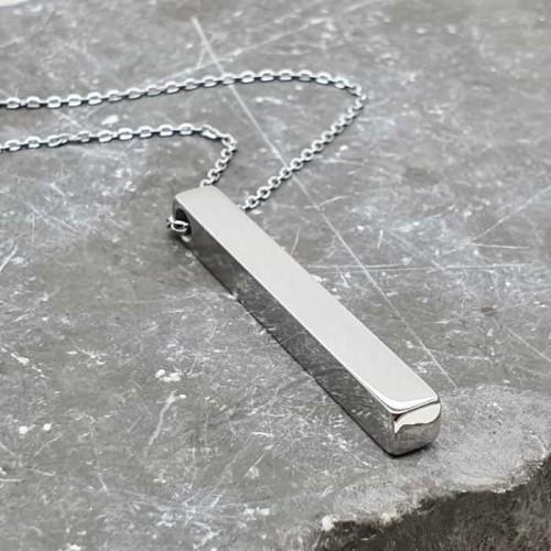 Стальной кулон на цепочке под гравировку унисекс