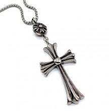 Крест без распятия стальной в стиле Rock
