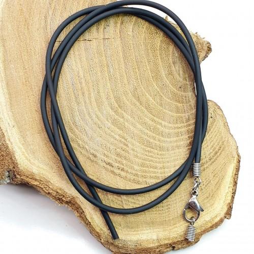 Каучуковый шнурок с медицинской сталью диаметр 2 мм