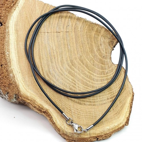 Каучуковый шнурок стальная застежка диаметр 1 мм