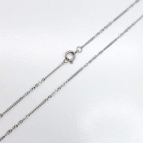 Цепочка из медицинской стали женская фантазийное плетение 60 см/1 мм
