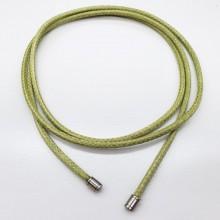 Шнурок (хлястик) текстильный на шею без застежки в двух цветах диаметр 3,5 мм