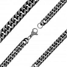 Модная мужская цепь из черненой стали Арес